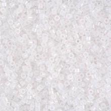 Delica Beads (Miyuki), size 11/0 (same as 12/0), SKU 195006.DB11-0220, white opal, (10gram tube, apprx 1900 beads)