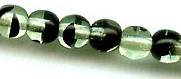 4mm Round Druk, Czech Glass, green tortoise, (100 beads)