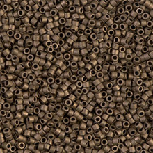 Delica Beads (Miyuki), size 11/0 (same as 12/0), SKU 195006.DB11-0322, metallic bronze matte, (10gram tube, apprx 1900 beads)