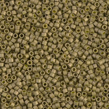 Delica Beads (Miyuki), size 11/0 (same as 12/0), SKU 195006.DB11-0371, matte opaque golden olive luster, (10gram tube, apprx 1900 beads)