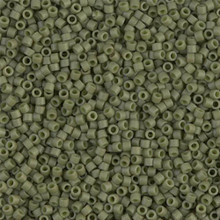 Delica Beads (Miyuki), size 11/0 (same as 12/0), SKU 195006.DB11-0391, olive opaque matte, (10gram tube, apprx 1900 beads)