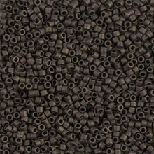 Delica Beads (Miyuki), size 11/0 (same as 12/0), SKU 195006.DB11-0311, olive green matte metallic, (10gram tube, apprx 1900 beads)
