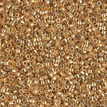 Delica Beads (Miyuki), size 11/0 (same as 12/0), SKU 195006.DB11-0410, galvanized yellow gold, (10gram tube, apprx 1900 beads)
