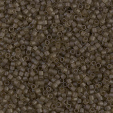 Delica Beads (Miyuki), size 11/0 (same as 12/0), SKU 195006.DB11-0384, smokey quartz transparent matte, (10gram tube, apprx 1900 beads)