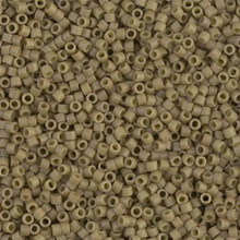Delica Beads (Miyuki), size 11/0 (same as 12/0), SKU 195006.DB11-0390, green tea opaque matte, (10gram tube, apprx 1900 beads)