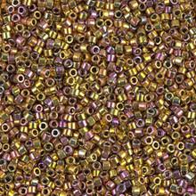 Delica Beads (Miyuki), size 11/0 (same as 12/0), SKU 195006.DB11-0507, pink gold ab,  (5gram tube, apprx 950 beads)