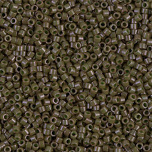Delica Beads (Miyuki), size 11/0 (same as 12/0), SKU 195006.DB11-0657, dyed opaque olive, (10gr.)