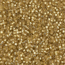 Delica Beads (Miyuki), size 11/0 (same as 12/0), SKU 195006.DB11-0687, peridot semi-matte silver lined (dyed), (10gr.)