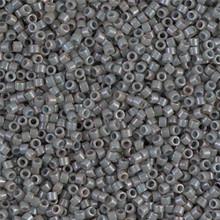 Delica Beads (Miyuki), size 11/0 (same as 12/0), SKU 195006.DB11-0652, dyed opaque grey, (10gr.)