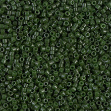 Delica Beads (Miyuki), size 11/0 (same as 12/0), SKU 195006.DB11-0663, dyed opaque forest green, (10gr.)