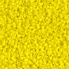 Delica Beads (Miyuki), size 11/0 (same as 12/0), SKU 195006.DB11-0721, yellow opaque, (10gram tube, apprx 1900 beads)