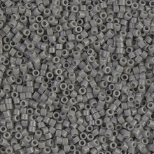 Delica Beads (Miyuki), size 11/0 (same as 12/0), SKU 195006.DB11-0731, opaque grey, (10gram tube, apprx 1900 beads)