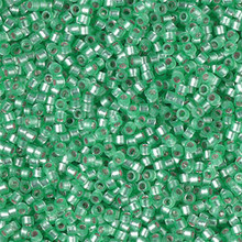 Delica Beads (Miyuki), size 11/0 (same as 12/0), SKU 195006.DB11-0691, mint green semi-matte silver lined (dyed), (10gr.)