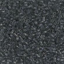 Delica Beads (Miyuki), size 11/0 (same as 12/0), SKU 195006.DB11-0708, grey transparent, (10gram tube, apprx 1900 beads)