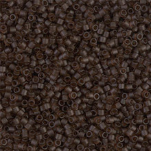 Delica Beads (Miyuki), size 11/0 (same as 12/0), SKU 195006.DB11-0769, matte transparent taupe, (10gram tube, apprx 1900 beads)