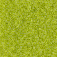 Delica Beads (Miyuki), size 11/0 (same as 12/0), SKU 195006.DB11-0766, matte transparent chartreuse, (10gram tube, apprx 1900 beads)