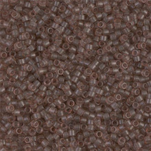 Delica Beads (Miyuki), size 11/0 (same as 12/0), SKU 195006.DB11-0772, dyed matte transp beige, (10gram tube, apprx 1900 beads)