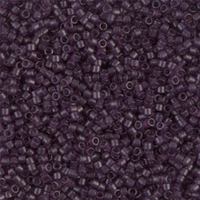Delica Beads (Miyuki), size 11/0 (same as 12/0), SKU 195006.DB11-0782, dyed matte transparent amethyst, (10gram tube, apprx 1900 beads)