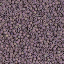 Delica Beads (Miyuki), size 11/0 (same as 12/0), SKU 195006.DB11-1064, matte metallic orchid gold iris, (10gram tube, apprx 1900 beads)