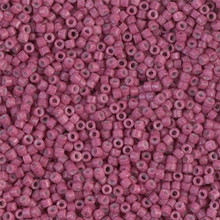 Delica Beads (Miyuki), size 11/0 (same as 12/0), SKU 195006.DB11-1376, dyed opaque wine, (10gram tube, apprx 1900 beads)