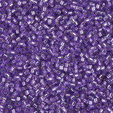 Delica Beads (Miyuki), size 11/0 (same as 12/0), SKU 195006.DB11-1347, dyed lilac, (10gram tube, apprx 1900 beads)