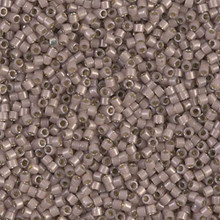 Delica Beads (Miyuki), size 11/0 (same as 12/0), SKU 195006.DB11-1460, cinnamon opal silver lined, (10gram tube, apprx 1900 beads)