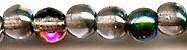 4mm Round Druk, Czech Glass, rose vitrail, (100 beads)