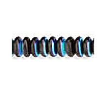 6mm RONDELLE DRUKS (saucer shape), Czech glass, jet ab, (100 beads)