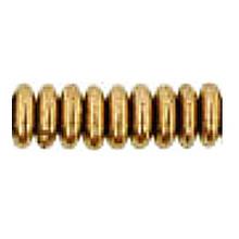 10mm RONDELLE DRUKS (saucer shape), Czech Glass, bronze metallic, (100 beads)
