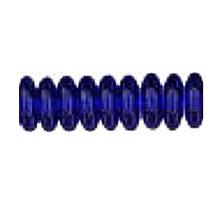 10mm RONDELLE DRUKS (saucer shape), Czech Glass, sapphire dark (cobalt), (100 beads)