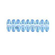 10mm RONDELLE DRUKS (saucer shape), Czech Glass, sapphire light, (100 beads)
