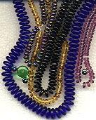 10mm RONDELLE DRUKS (saucer shape), Czech Glass, topaz dark, (100 beads)