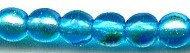 6mm Round Druk, Czech Glass, aqua dark ab, (100 beads)