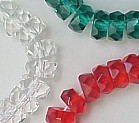 6x3mm Fire Polish Rondelle Bead (aka, Tire), Czech Glass, crystal matte, (50 beads)