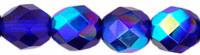 3mm Round Fire Polish Bead, Czech Glass, cobalt ab (same as dark sapphire ab), (100 beads)