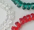6x3mm Fire Polish Rondelle Bead (aka, Tire), Czech Glass, rose, (50 beads)