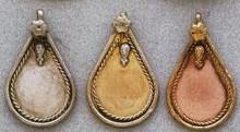 East Indian Metal Charm/Drop, Teardrop-Plain, 40mm, copper, (4 pieces)