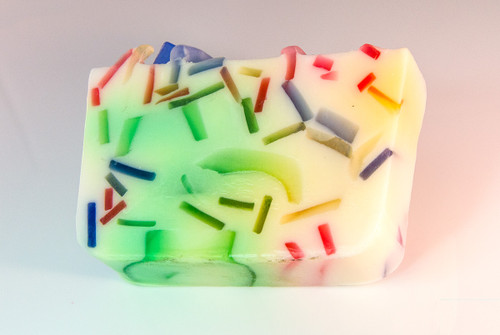 Tropical Confetti glycerin soap