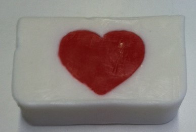 red heart glycerin soap