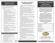 Equipment Operator Competency Evaluation Cards