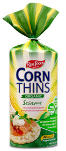 Real Foods Corn Thins Organic Sesame