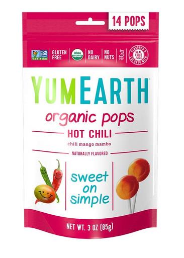 Yummy Earth Organic Hot Chili Mango LolliPops, 3 oz.