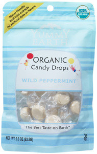 3.3 oz. pack of 2 Yummy Earth 93.5g Organic Candy Drops Gluten Free Wild Peppermint Flavor