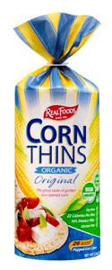 Real Foods Corn Thins Organic Original