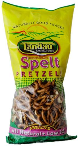 Landau Organic Spelt Pretzels Unsalted, 8 oz.