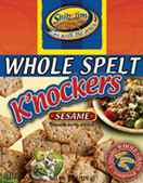 Shibolim Whole Spelt Crackers K'nockers Sesame, 6 oz.