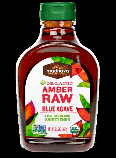 Madhava Organic Agave Nectar Amber Raw, 23.5 oz.