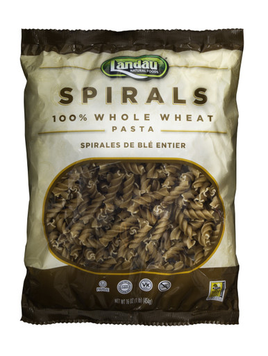 Landau Organic Whole Wheat Pasta Spirals, 16 oz.