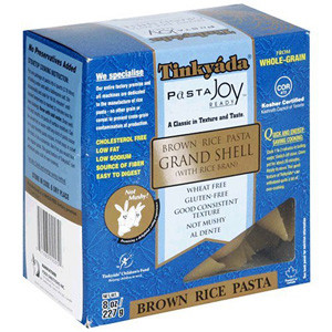 Tinkyada Brown Rice Gluten Free Pasta Grand Shell
