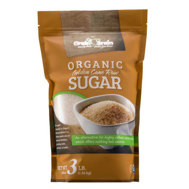 Grain Brain Organic Golden Cane Raw Sugar, 3 lbs.